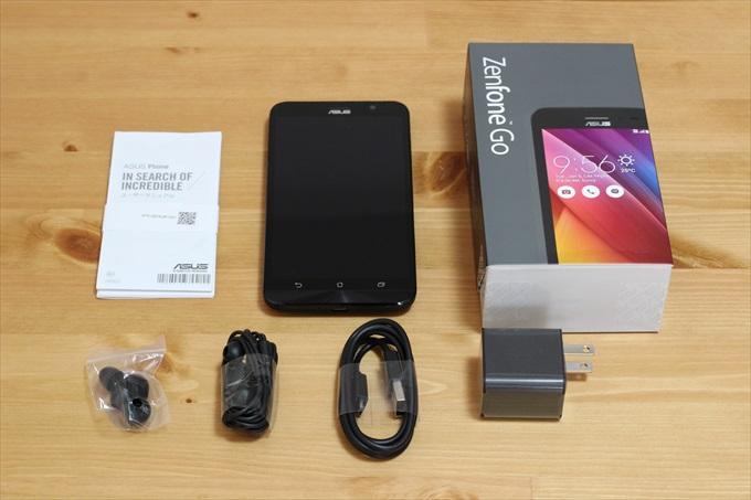 ASUS ZenFone Goの付属品