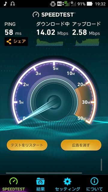 ASUS ZenFone GoにUQ mobileのSIMを挿して測定した通信速度