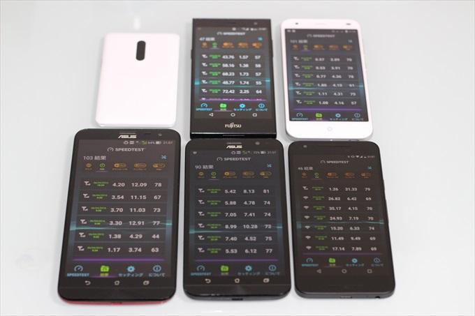 5台のスマホとWiMAX 2+のルーターNAD11