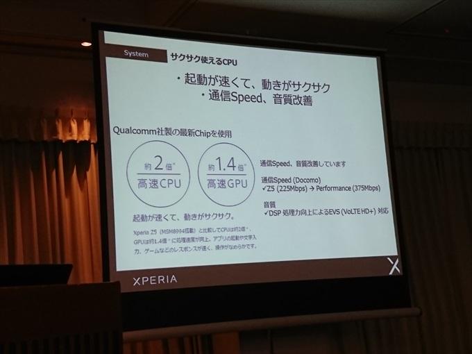 Snapdragon 820を搭載したXperia X Performance