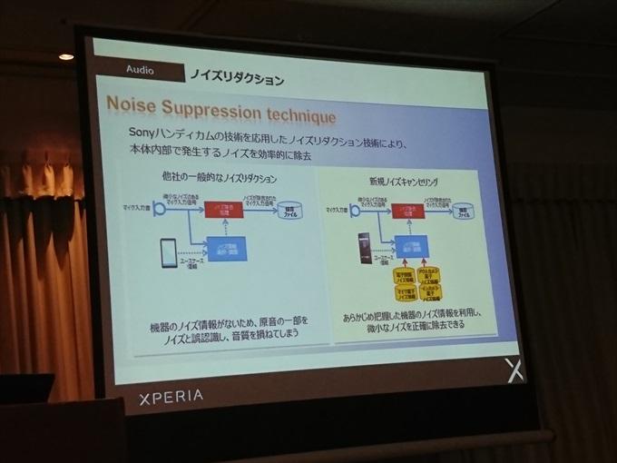 Xperia X Performanceはノイズリダクションを強化