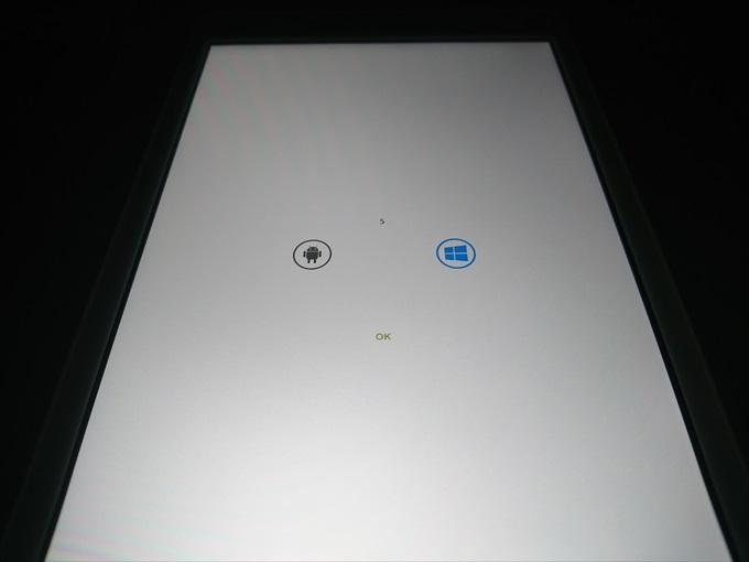 Chuwi Hi8 ProのブートOS選択画面