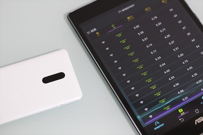 WiMAX 2+のルーターNAD11とASUS ZenPad S 8.0