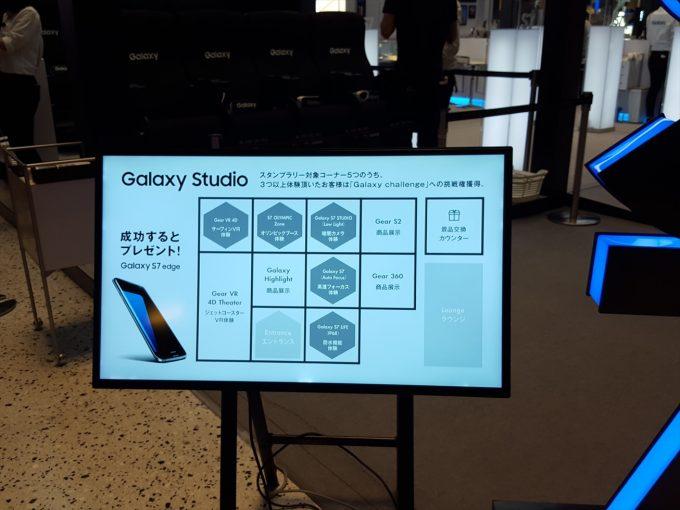 Galaxy Studio in Osakaのスタンプラリー内容