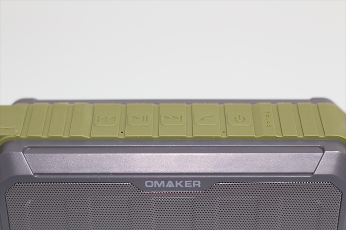 Omaker M5の操作ボタンとNFCセンサー