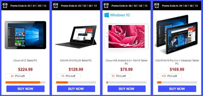 Chuwiタブレット限定セール