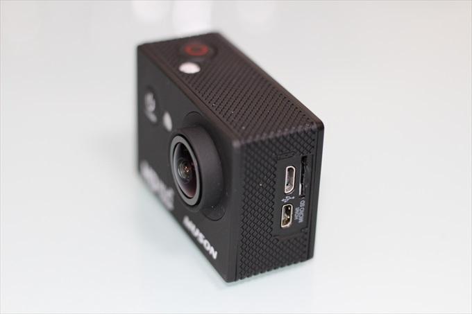 アクションカメラC1の各種インターフェース
