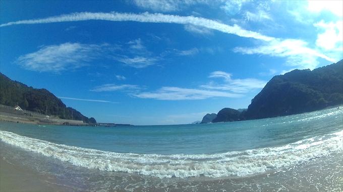 アクションカメラC1で撮った海と空の写真