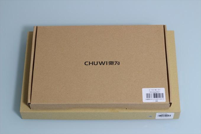 Chuwi Vi10 Plusと専用キーボードカバーのパッケージ