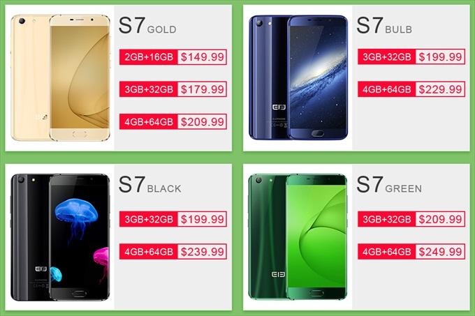 Elephone S7のセール価格表