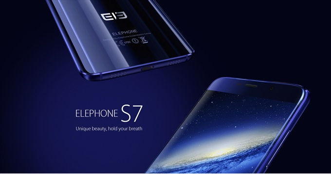 ブルーのElephone S7