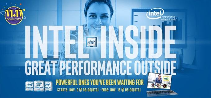 Intel搭載製品のセールバナー