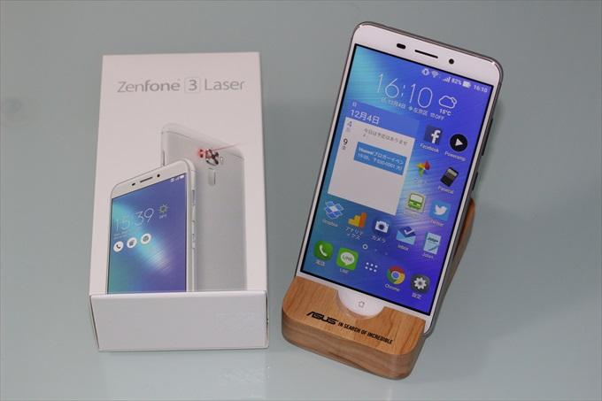 ASUSのSIMフリースマートフォンZenFone 3 Laser ZC551KLとパッケージ