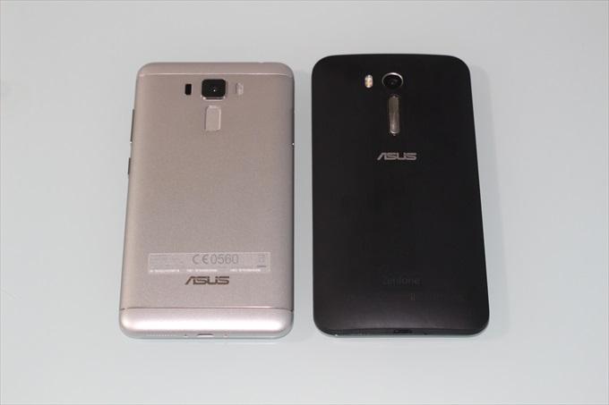 ZenFone 3 LaserとZenFone Goの背面比較