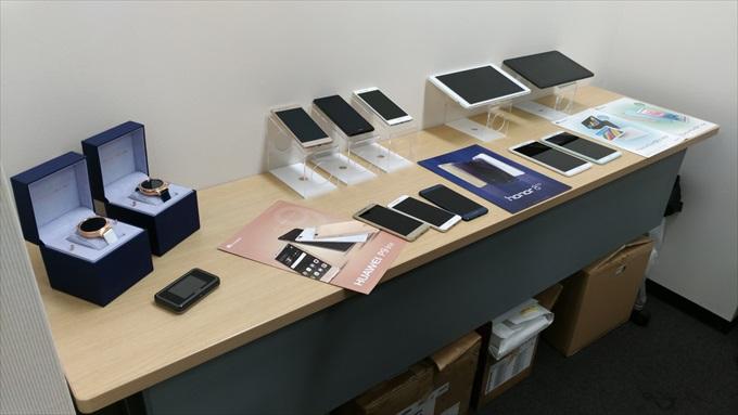 テーブルに並べられたHuawei製品