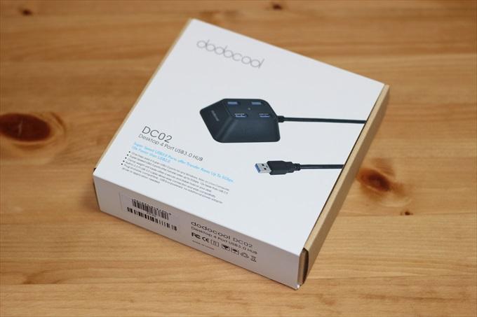 dodocool USBハブのパッケージ