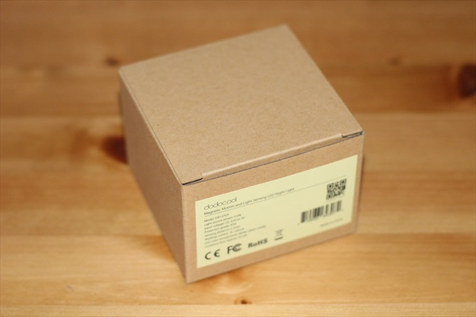 dodocoolのLEDセンサーライトのパッケージ