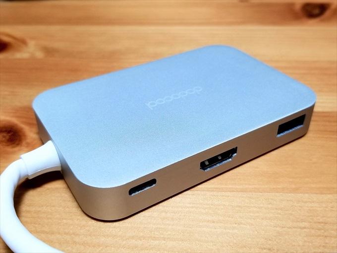 USB-AポートとUSB PDに対応したUSB Type-CポートとHDMIポート