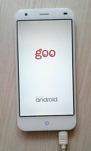 gooのスマホ g03の起動画面